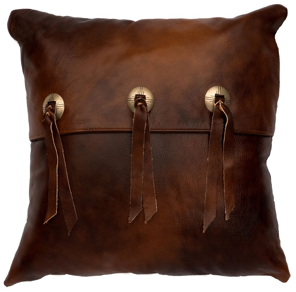 oncho Accent Harness Leather Throw Pillow 16 x 16