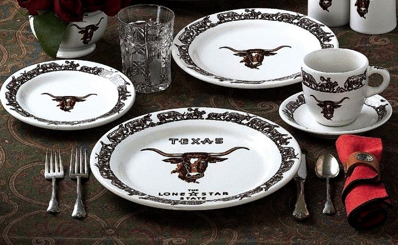 Special Texas Edition Longhorn Dinnerware 20-Pc Set & Special Texas Edition Longhorn Dinnerware 20Pc Set