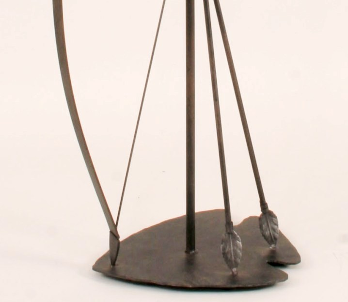 Southwest Bow & Arrow Metal Floor Lamp & Shade 61.5 Inch