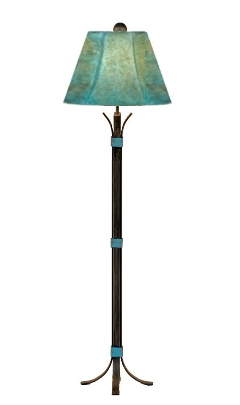 turquoise table lamp modernist turquoise southwest iron floor lamp shade 64