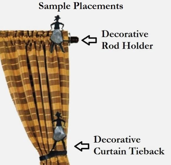Running Horse Drapery Curtain Tie Backs