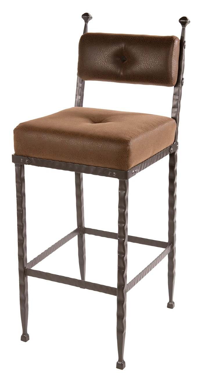 Forest Hill Iron Padded Back Counter Bar Stool 25 Inch