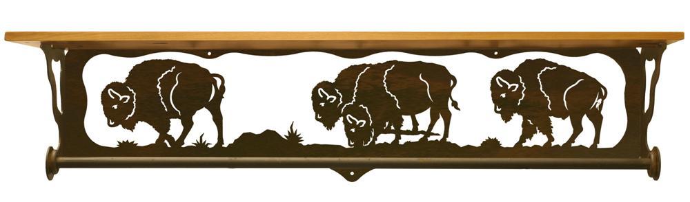 Buffalo Scenic Bath Shelf Amp Towel Bar 34 Inch