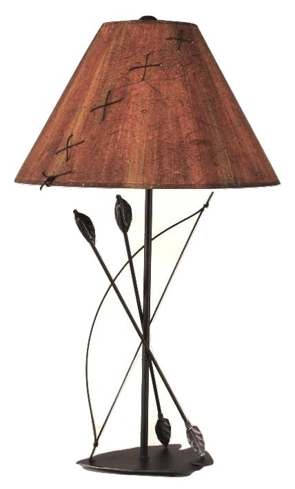 Southwest bow arrow metal art table lamp shade 315 aloadofball Choice Image