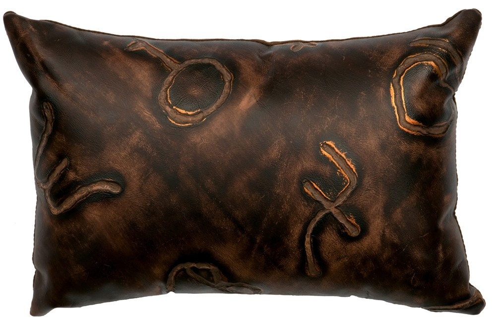 Decorative Western Throw Pillows : Western Brands Embossed Leather Throw Pillow 12 x 18
