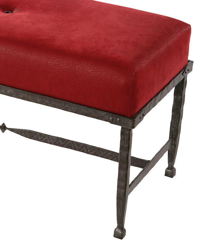Forest Hill Iron Upholstered Bench 36 Inch