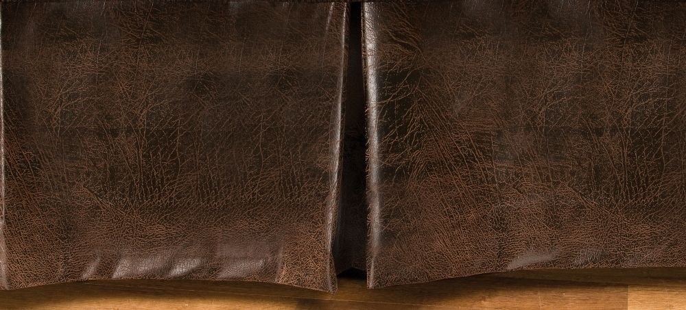 ranger brown faux leather tailored bedskirt