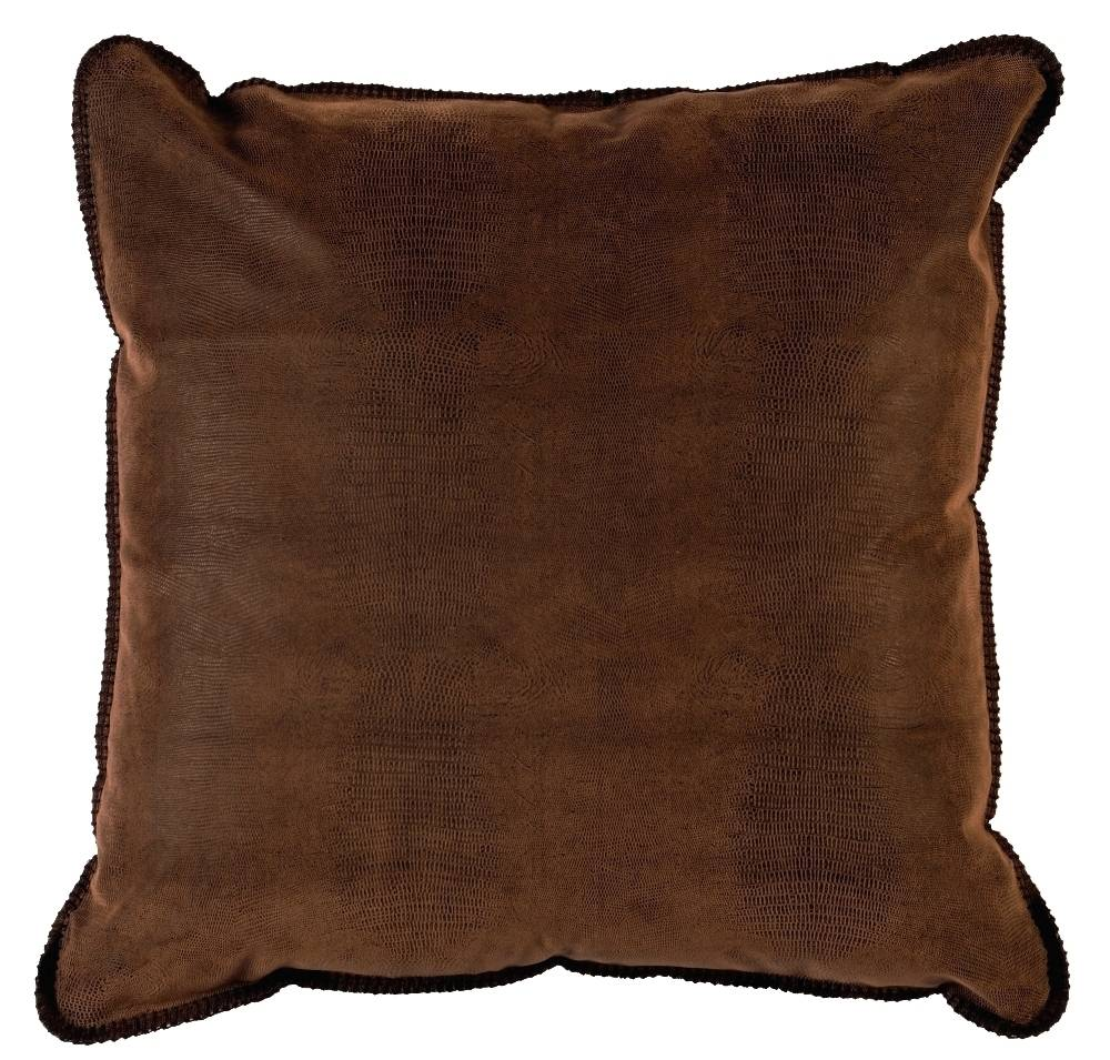 Socorro Southwest Faux Alligator Leather Eurosham Pillow Cover