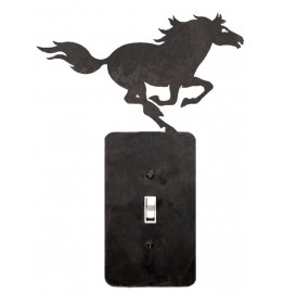 image for Running Horse Steel Switch Plate or Outlet Cover 5 Color Choices