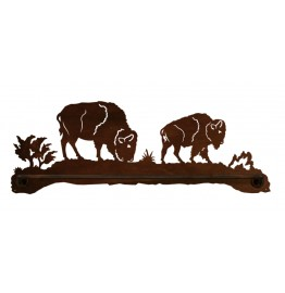 image for Buffalo Grazing Scenic Rustic Bath Towel Bar