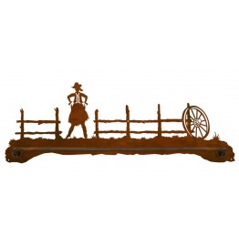 image for Cowgirl Draw Scenic Bath Towel Bar