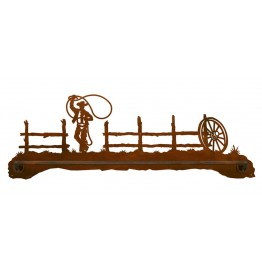 image for Lariat Roping Cowboy Scenic Bath Towel Bar