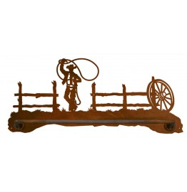image for Lariat Roping Cowboy Scenic Hand Towel Bar