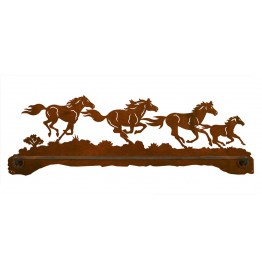 image for Wild Horses Scenic Bath Towel Bar