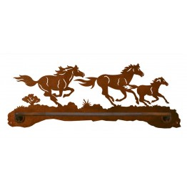 image for Wild Horses Scenic Hand Towel Bar