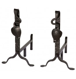 image for Leaf Collection Forged Iron Andirons 900-333