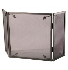 image for Leaf Collection Triple Panel Iron Fire Screen