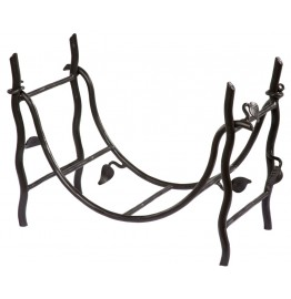 image for Sassafras Collection Forged Iron Log Basket 900-372