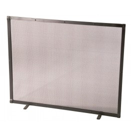 image for Plain Single Panel Iron Fire Screen with Feet