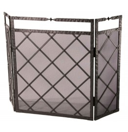 image for Forest Hill Triple Panel Iron Fire Screen