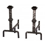 image for Forest Hill Collection Forged Iron Andirons 904-236