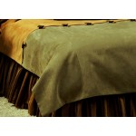 image for Autumn Leaf Leather Accent Two-Tone Duvet Cover