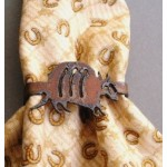 image for Armadillo Metal Napkin Rings set of 8