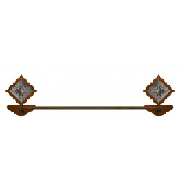 image for Diamond Silver Pico Concho Burnished Steel Bath Towel Bar