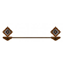 image for Diamond Copper Concho Burnished Steel Bath Towel Bar