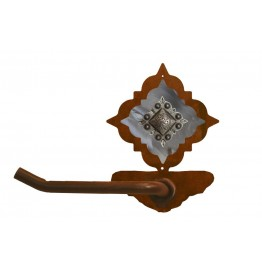 image for Diamond Silver Pico Concho Burnished Steel Tissue Holder