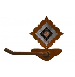 image for Diamond Copper Concho Burnished Steel Tissue Holder