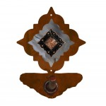 image for Diamond Copper Concho Burnished Steel Robe Hook