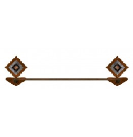 image for Diamond Copper Concho Burnished Steel Hand Towel Bar