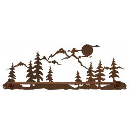 image for Moon Over Pine Tree Mountain Scenic Bath Towel Bar
