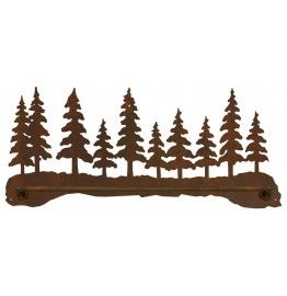 image for Pine Tree Forest Scenic Bath Towel Bar