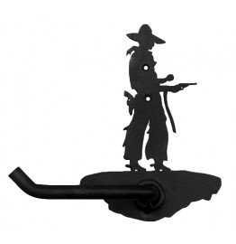 image for Cowboy Pistol Drawn Bath Tissue Holder
