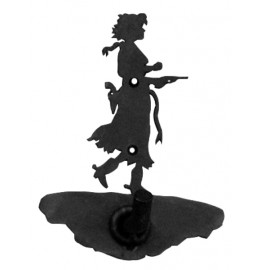 image for Cowgirl Pistol Drawn Robe Hook