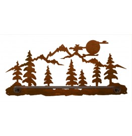 image for Moon Over Pine Tree Mountain Scenic Hand Towel Bar