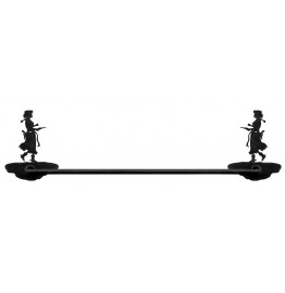 image for Cowgirl Pistol Drawn Hand Towel Bar 24 inch