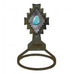 image for Desert Diamond Turquoise Stone Towel Ring Burnished