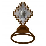 image for Desert Diamond Concho Accent Towel Ring Burnished