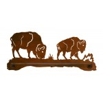 image for Buffalo Grazing Scenic Rustic Hand Towel Bar