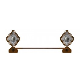 image for Desert Diamond Concho Hand Towel Bar Burnished