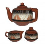 image for Bear Butte Teapot & Creamer Sugar Bowl Set