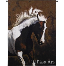 image for Bella IV Paint Horse Wall Tapestry & Rod