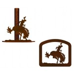 image for Bronc Rider Western Paper Towel Stand & Napkin Holder