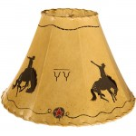image for Bronc Rider Hand Painted Leather Lampshades
