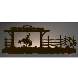 image for Bronc Rider Back-Lit Wall Art 42 inch