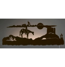 image for Spirit Talker Southwest Scene Back-Lit Wall Art 42 inch