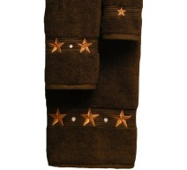 image for Barn Star 3 Piece Bath Towel Set Chocolate